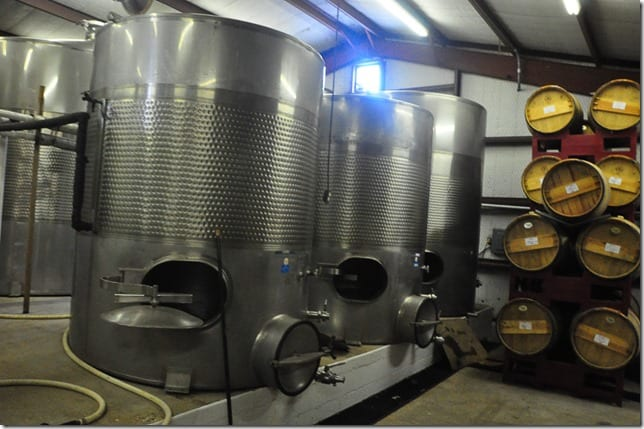 Pheasant Ridge Winery tanks